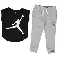 Jordan Jumbo Jumpman Legging Set - Girls' Preschool - Grey / Black
