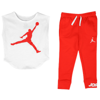 Jordan Jumbo Jumpman Legging Set - Girls' Preschool - Red / White