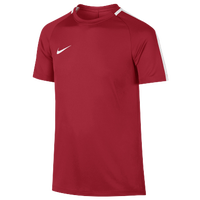 Nike Academy Shortsleeve Top - Youth - Red / White