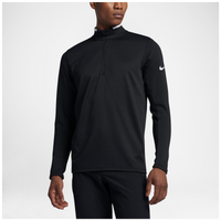 Nike Dri-FIT Golf 1/2 Zip Ls Top - Men's - Black / White