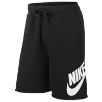 Nike AW77 Alumni FT Shorts - Men's - Black / White