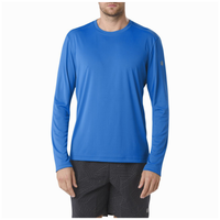 ASICS® Contour Long Sleeve T-Shirt - Men's - Light Blue / Light Blue