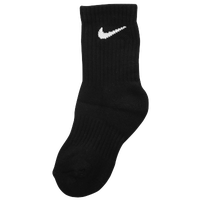 Nike 6 Pack Crew Socks - Boys' Preschool - Black / White