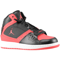 Jordan 1 Flight Strap - Girls' Grade School - Black / Red