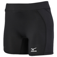 Mizuno Low Rise Sliding Shorts - Women's - All Black / Black