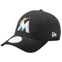 New Era 9Forty MLB League Cap - Men's - Miami Marlins - Black / Multicolor