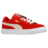PUMA Suede Classic - Boys' Preschool - Red / Tan