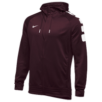 Nike Team Elite Stripe Full Zip Hoodie - Men's - Maroon / White