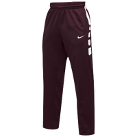 Nike Team Elite Stripe Pants - Men's - Maroon / White