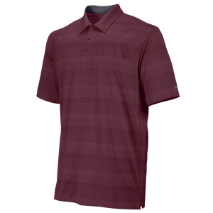 Nike Team Tech Stripe Polo - Men's - Dark Maroon/Anthracite