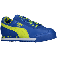 PUMA Roma - Boys' Grade School - Blue / Light Green