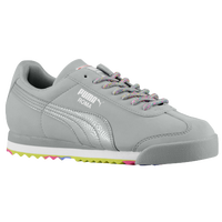 PUMA Roma - Boys' Grade School - Grey / Light Green