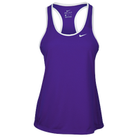 Nike Team Dry Tank - Women's - Purple / White