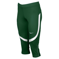 Nike Team Power Stock Race Day Capris - Women's - Dark Green / White