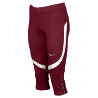 Nike Team Power Stock Race Day Capris - Women's - Cardinal / White