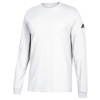 adidas Team Long-Sleeve Logo T-Shirt - Men's - All White / White