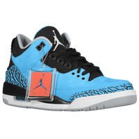 Jordan Retro 3 - Men's - Light Blue / Black
