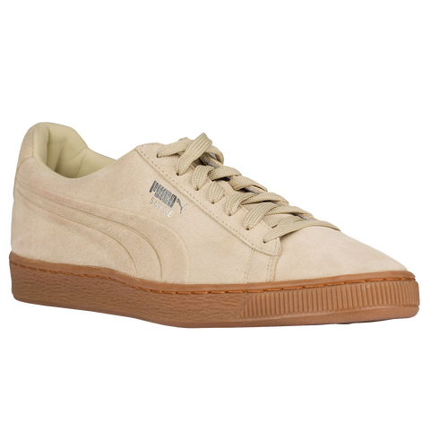 puma suede classic men 39 s casual shoes pale khaki gum. Black Bedroom Furniture Sets. Home Design Ideas