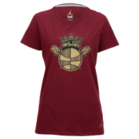 Jordan BHM Premium Short Sleeve T-Shirt - Women's - Maroon / Gold