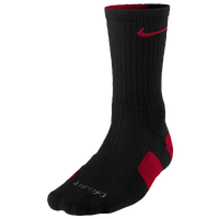 Nike Elite Basketball Crew Socks - Men's - Black / Red