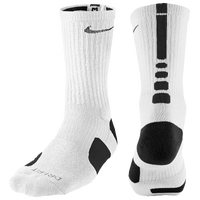 Nike Elite Basketball Crew Socks - Men's - White / Black