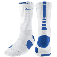Nike Elite Basketball Crew Socks - Men's - White / Blue