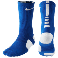 Nike Elite Basketball Crew Socks - Men's - Blue / White