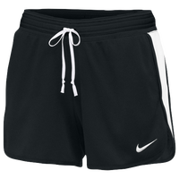 Nike Team Dry Infiknit Mid Pocket Shorts - Women's - Black / White