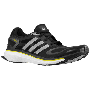 adidas Energy Boost - Men's - Black/Metallic Silver/Vivid Yellow