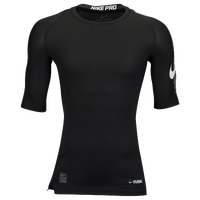 Nike Cool 1/2 Sleeve Compression Top - Men's - Black / White