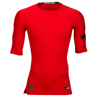 Nike Cool 1/2 Sleeve Compression Top - Men's - Red / Black