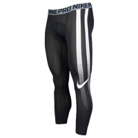 Nike Hypercool 3/4 Compression Tights - Men's - Black / White