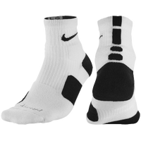 Nike Elite High-Quarter Socks - Men's - White / Black