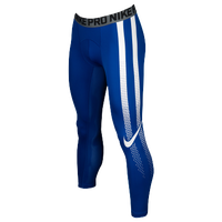 Nike Hypercool 3/4 Compression Tights - Men's - Blue / White