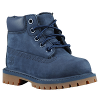 "Timberland 6"" Premium Waterproof Boots - Boys' Toddler - Navy / Brown"