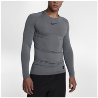 Nike Pro Compression Long Sleeve Top - Men's - Grey / Grey