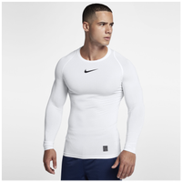 Nike Pro Compression Long Sleeve Top - Men's - White / Black
