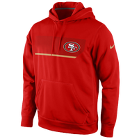 Nike NFL Therma-Fit Performance Hoodie - Men's - San Francisco 49ers - Red / Gold