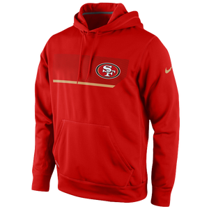 Nike NFL Therma-Fit Performance Hoodie - Men's - San Francisco 49ers - Gym Red