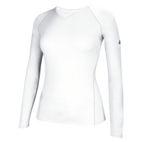 adidas Team Climalite Long Sleeve T-Shirt - Women's - All White / White