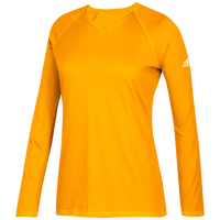 adidas Team Climalite Long Sleeve T-Shirt - Women's - Gold / Gold