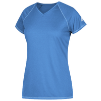 adidas Team Climalite T-Shirt - Women's - Light Blue / Light Blue