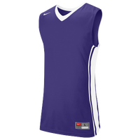 Nike Team National Varsity Jersey - Men's - Purple / White