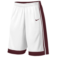 Nike Team National Varsity Shorts - Men's - White / Maroon