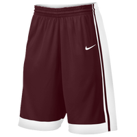 Nike Team National Varsity Shorts - Men's - Maroon / White