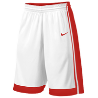 Nike Team National Varsity Shorts - Boys' Grade School - White / Red