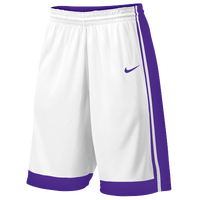 Nike Team National Varsity Shorts - Boys' Grade School - White / Purple
