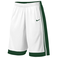 Nike Team National Varsity Shorts - Boys' Grade School - White / Dark Green