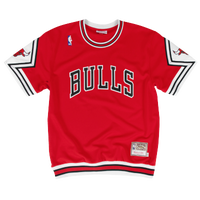 Mitchell & Ness NBA Authentic Shooting Shirt - Men's - Chicago Bulls - Red / White