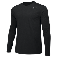 Nike Team Legend Long Sleeve Poly Top - Boys' Grade School - Black / Black